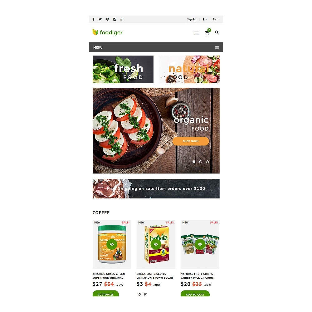 theme - Alimentation & Restauration - Foodiger - Grocery Store - 7