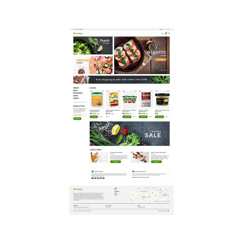 theme - Alimentation & Restauration - Foodiger - Grocery Store - 10