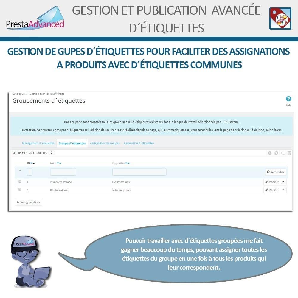 module - Etiquettes & Logos - Étiquettes: Gestion avancée et Publication - 5