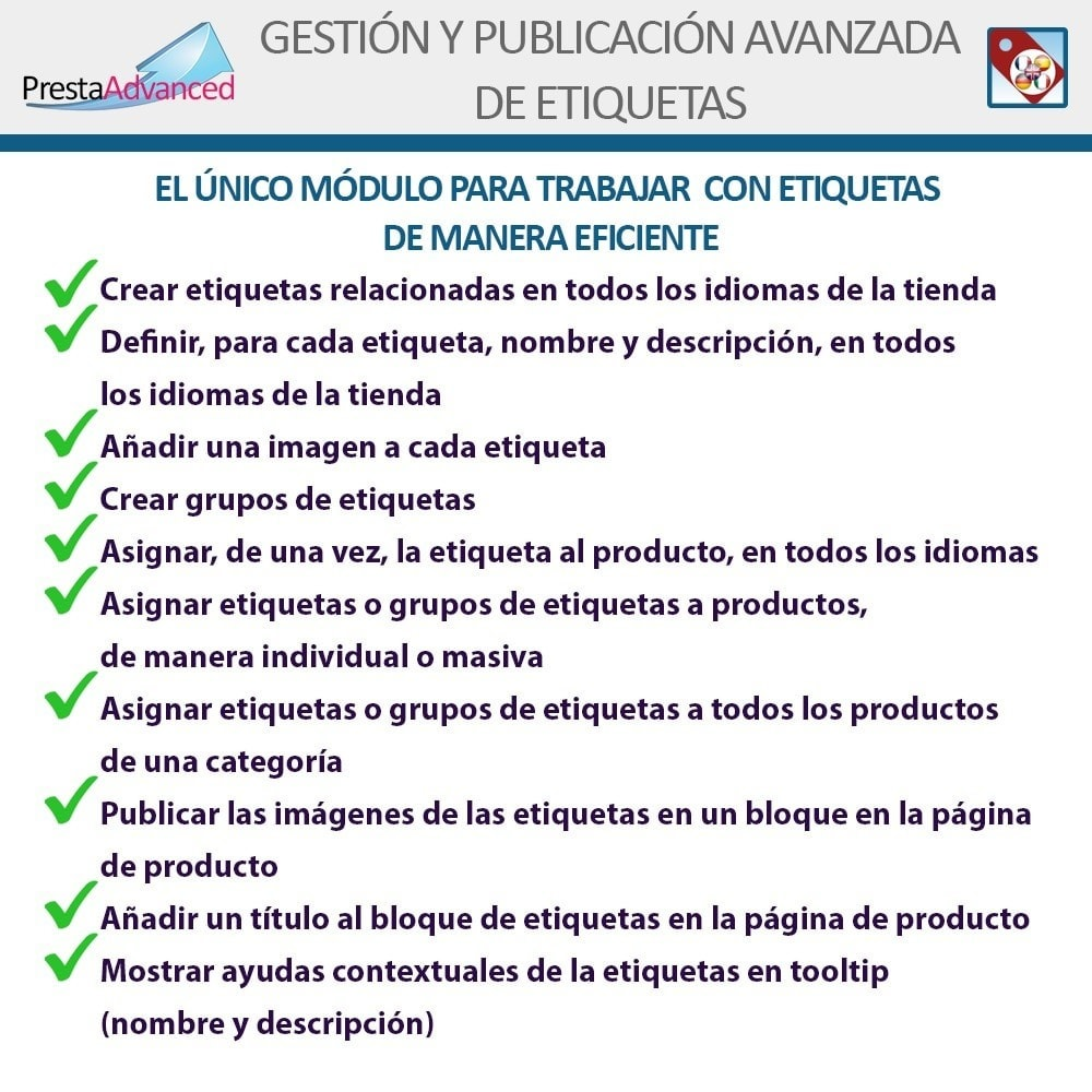 module - Etiquetas y Logos - Etiquetas: Gestión Avanzada y Publicación - 2