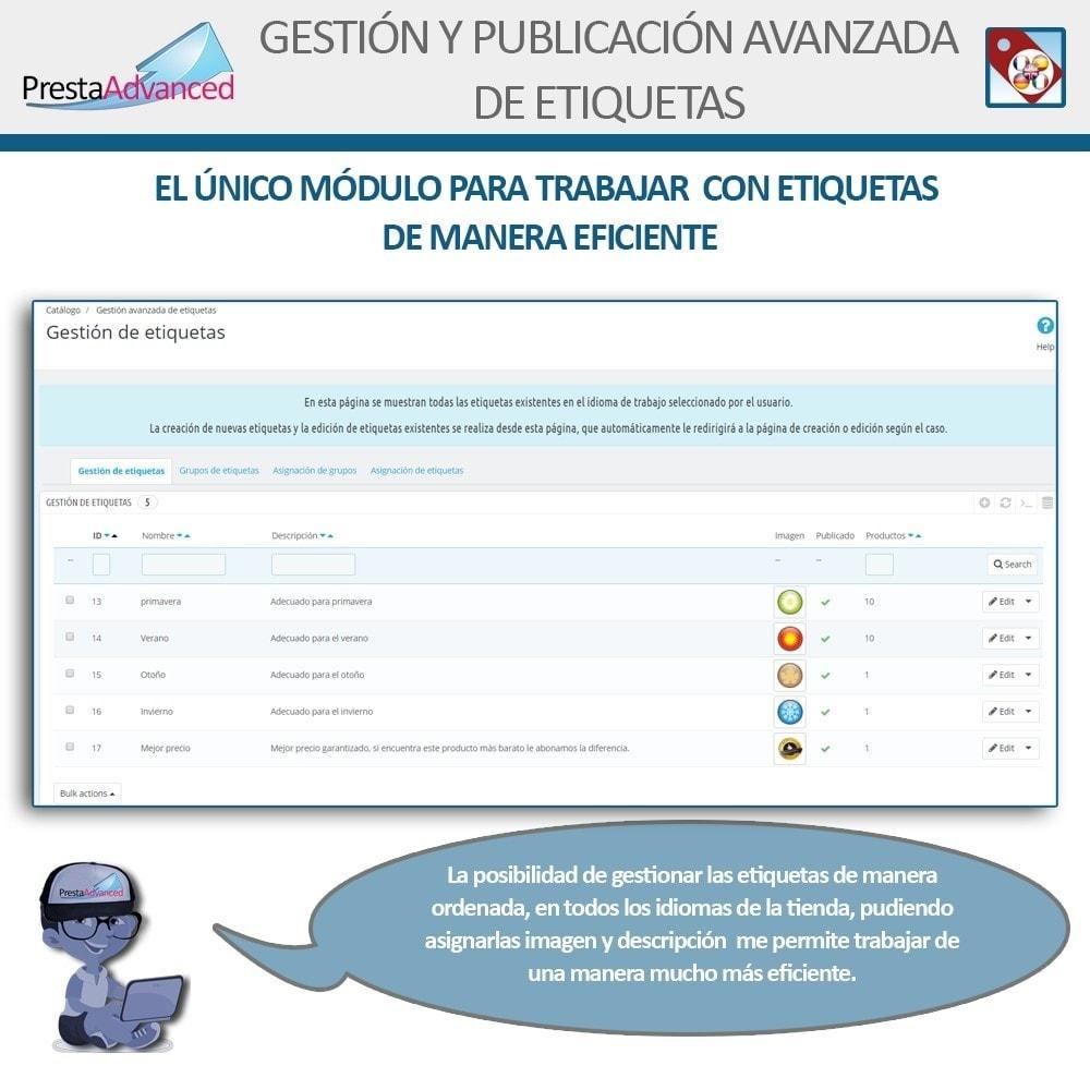 module - Etiquetas y Logos - Etiquetas: Gestión Avanzada y Publicación - 3