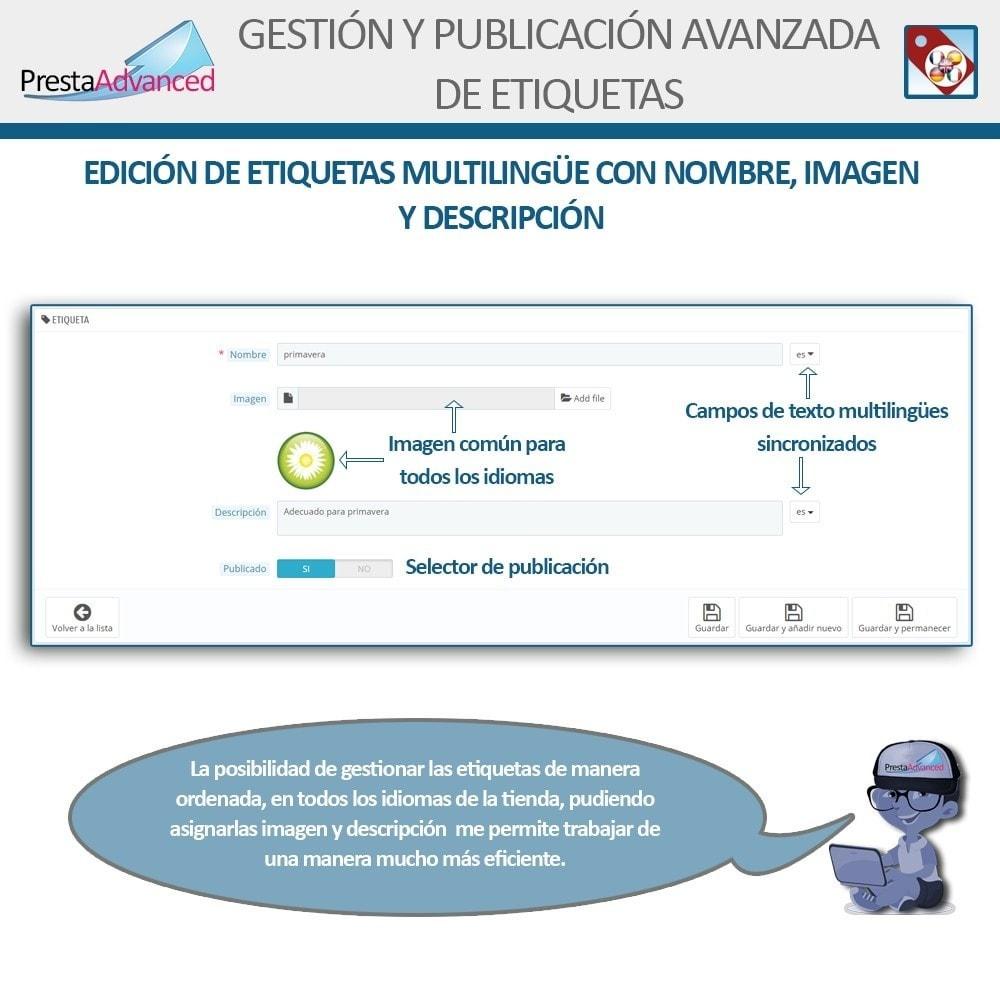 module - Etiquetas y Logos - Etiquetas: Gestión Avanzada y Publicación - 4