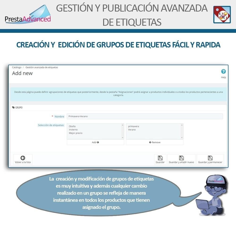 module - Etiquetas y Logos - Etiquetas: Gestión Avanzada y Publicación - 6
