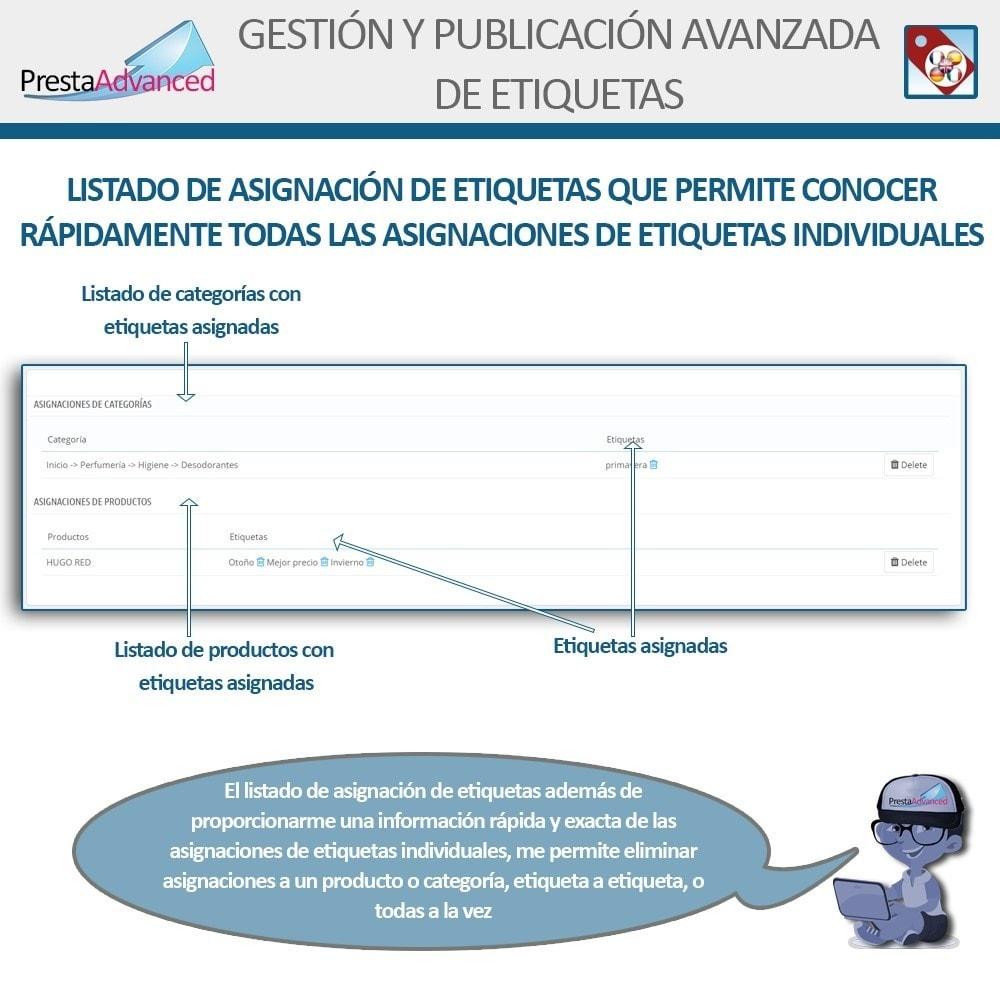 module - Etiquetas y Logos - Etiquetas: Gestión Avanzada y Publicación - 10