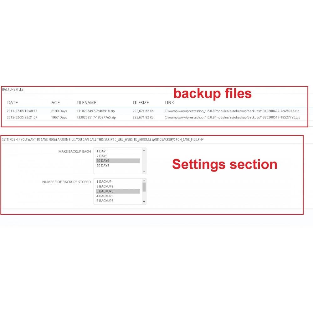 module - Migração de Dados & Registro - Auto Backup - 1