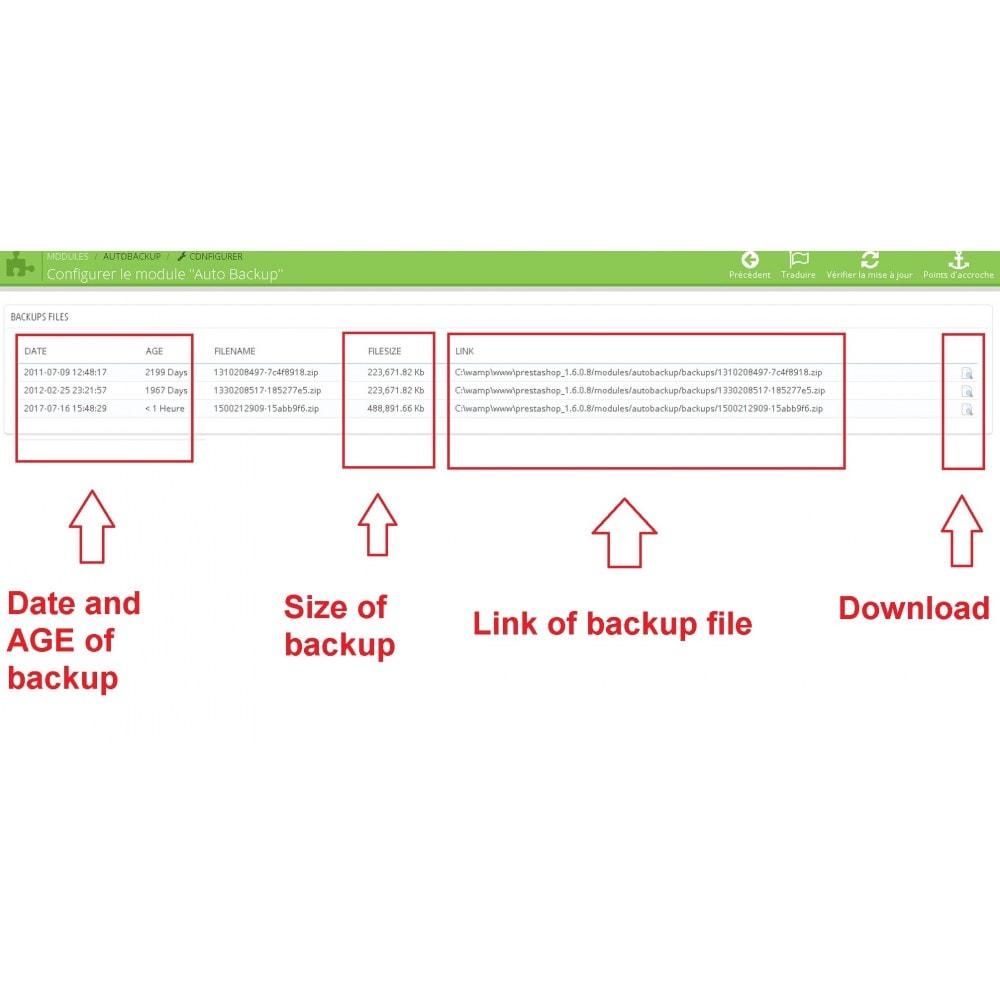 module - Migração de Dados & Registro - Auto Backup - 2