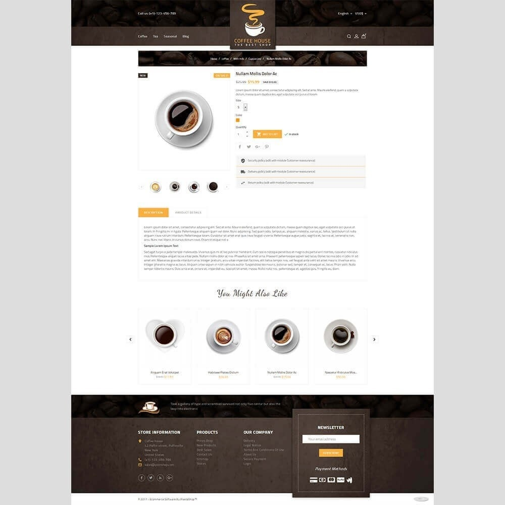 theme - Napoje & Wyroby tytoniowe - Coffee House - 5
