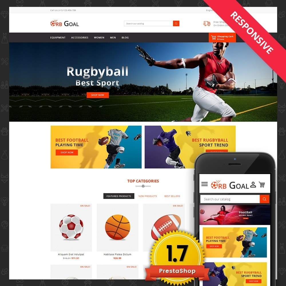 theme - Deportes, Actividades y Viajes - Orb Goal Sports Store - 1