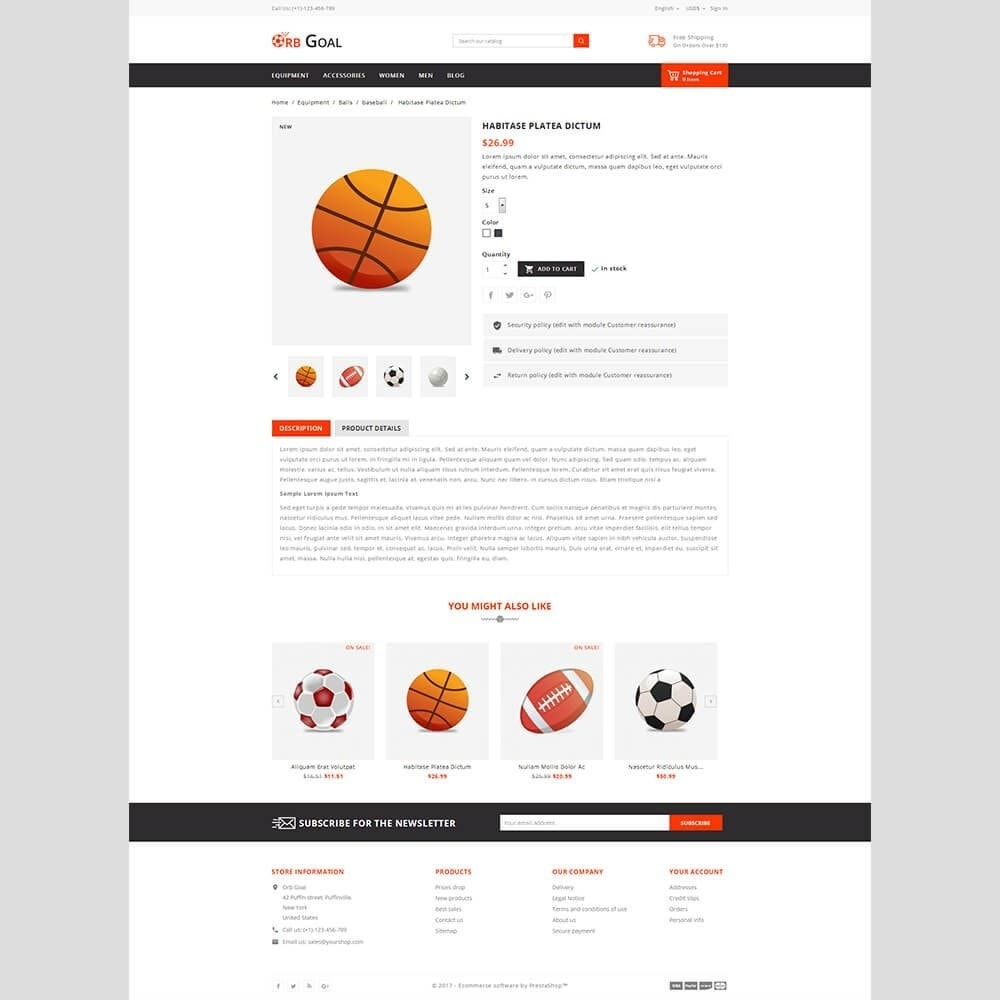 theme - Deportes, Actividades y Viajes - Orb Goal Sports Store - 3