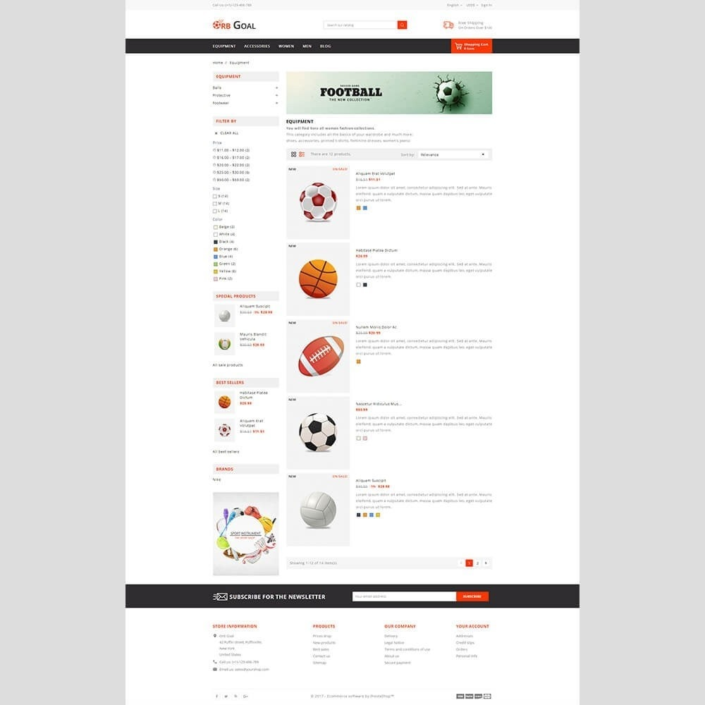 theme - Deportes, Actividades y Viajes - Orb Goal Sports Store - 5