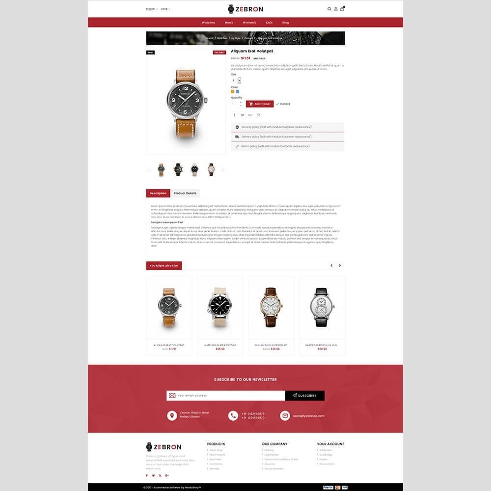 theme - Sieraden & Accessoires - Zebron watch store - 3