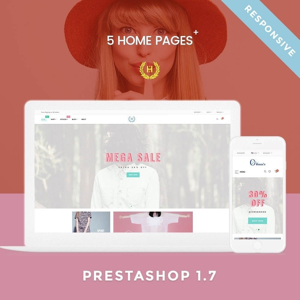 theme - Mode & Chaussures - H2 Fashion Store Responsive Multiple Prestashop Theme - 1