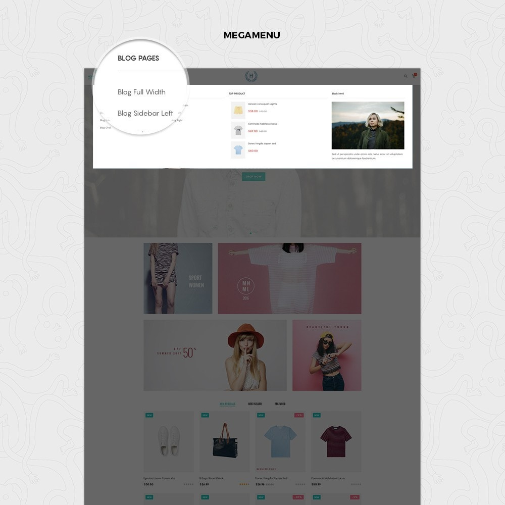 theme - Mode & Chaussures - H2 Fashion Store Responsive Multiple Prestashop Theme - 4