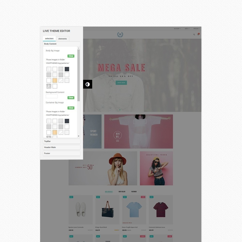 theme - Mode & Chaussures - H2 Fashion Store Responsive Multiple Prestashop Theme - 5