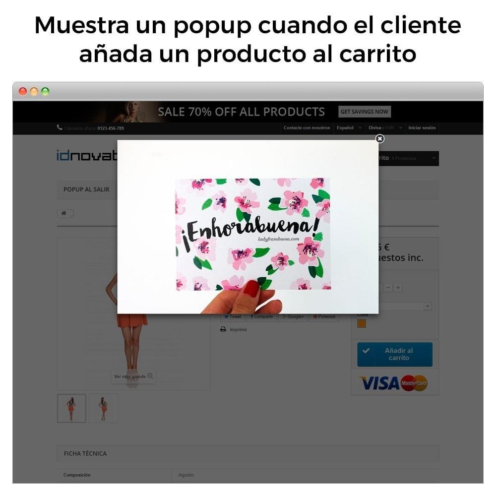 module - Pop-up - Popup al entrar, salir, añadir producto y newsletter - 5