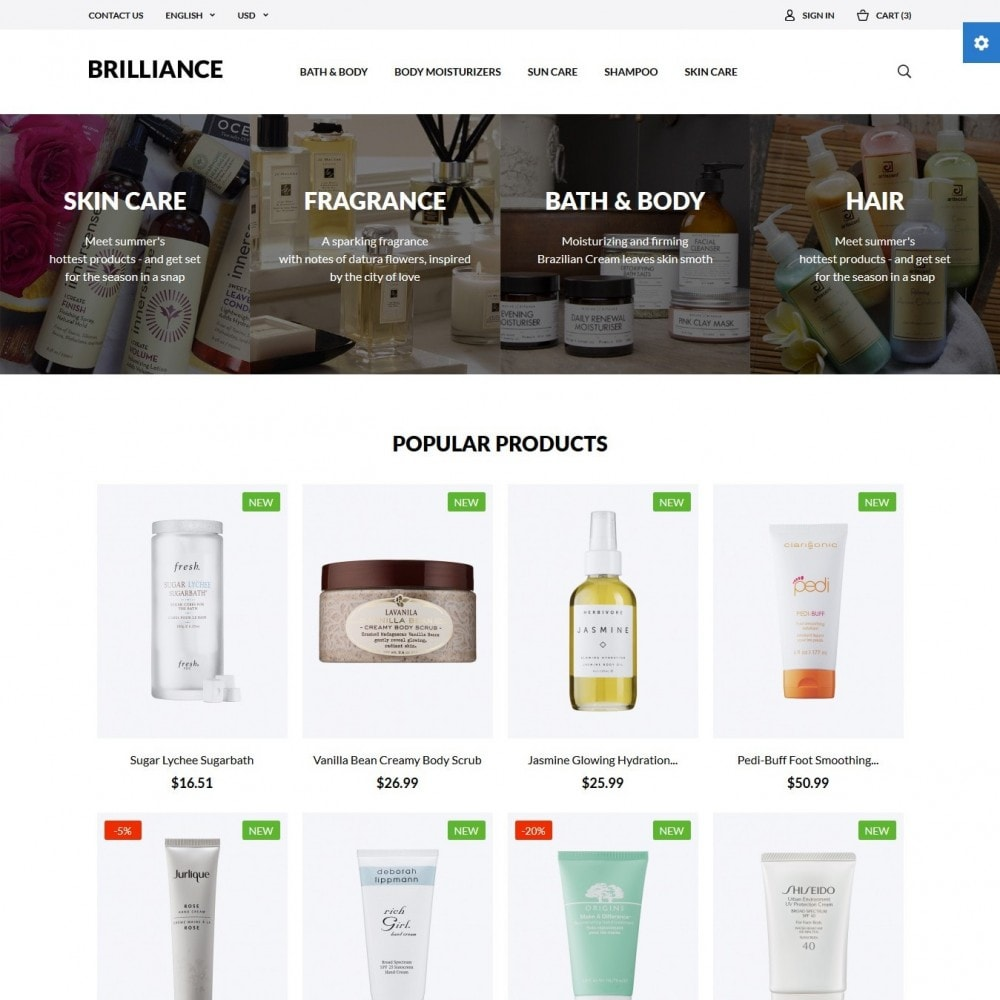 theme - Salute & Bellezza - Brilliance Cosmetics - 2