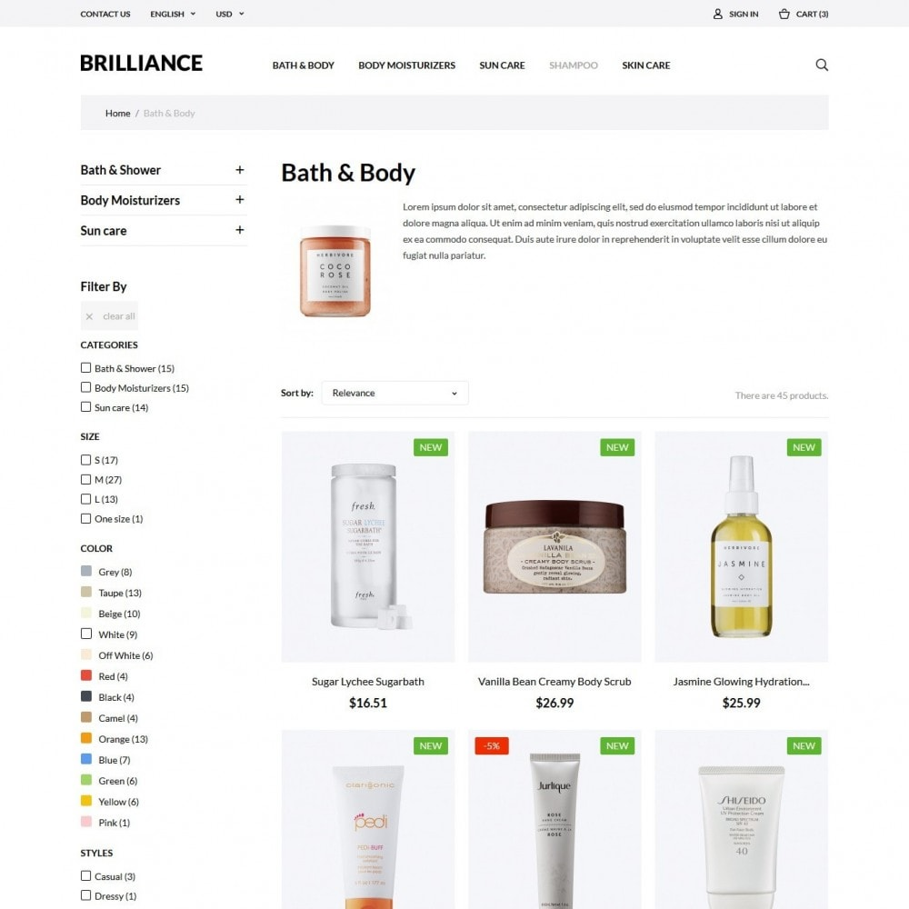 theme - Salute & Bellezza - Brilliance Cosmetics - 4