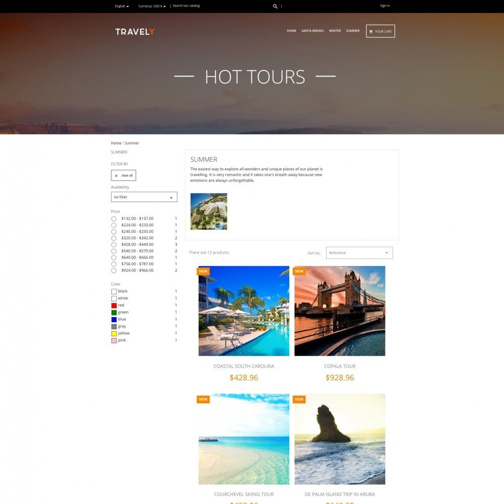 theme - Sport, Loisirs & Voyage - Travely - Travel Agency - 2