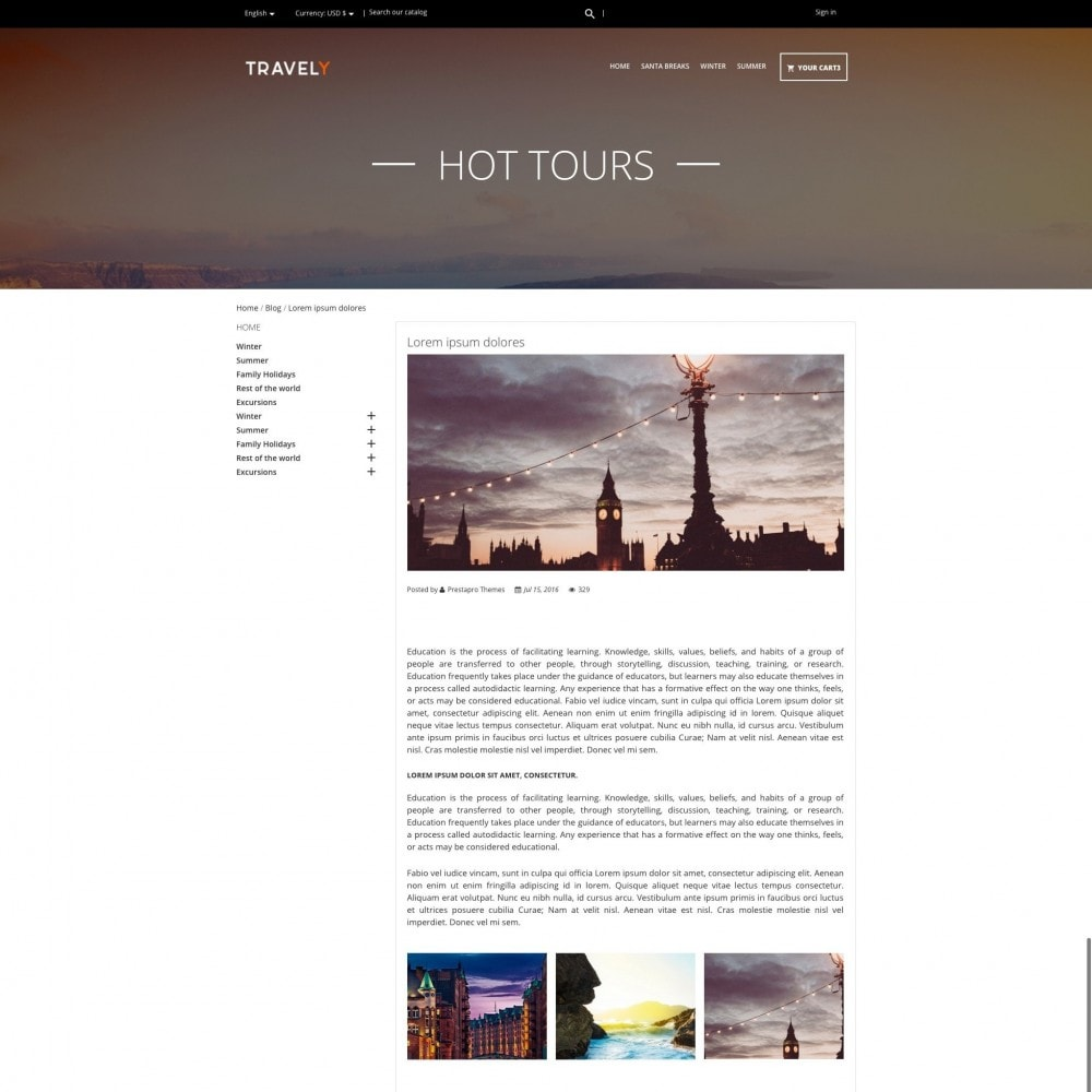 theme - Sport, Loisirs & Voyage - Travely - Travel Agency - 5