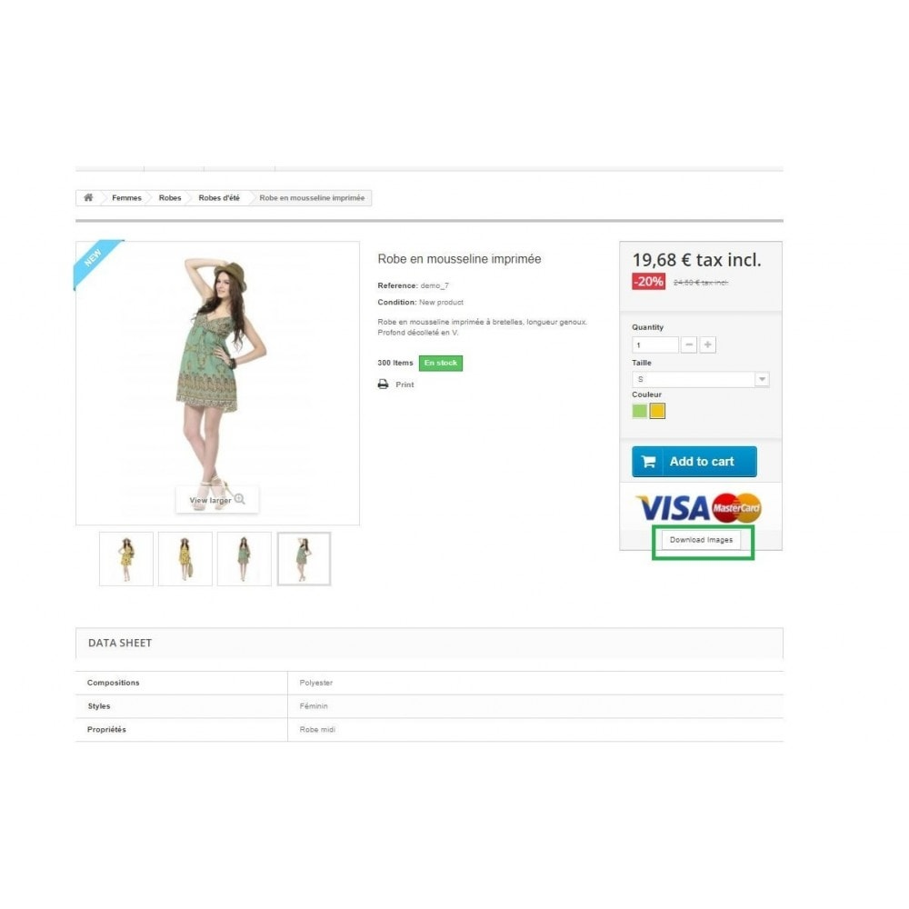 module - Altre informazioni & Product Tab - Product Images Download - 2
