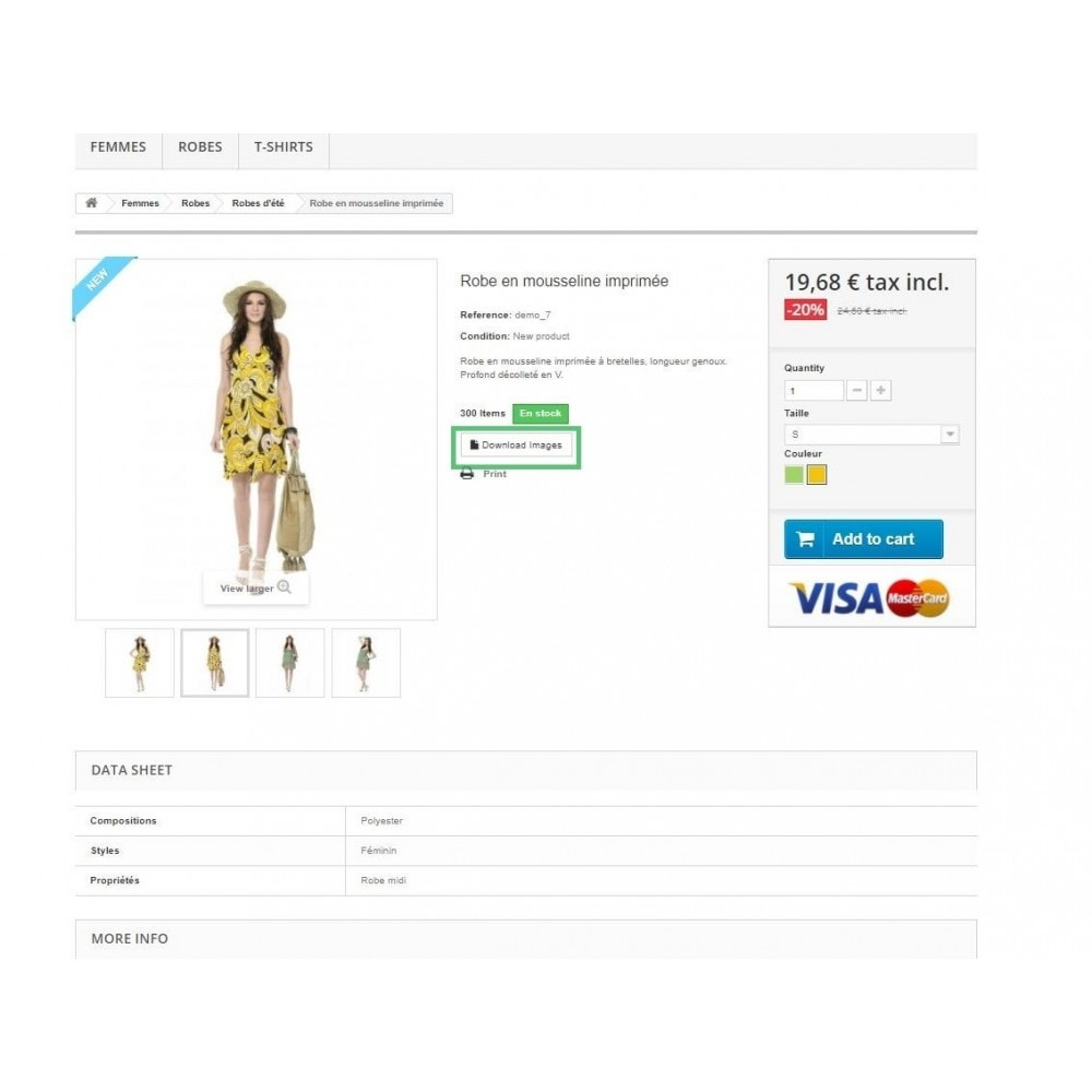 module - Altre informazioni & Product Tab - Product Images Download - 3