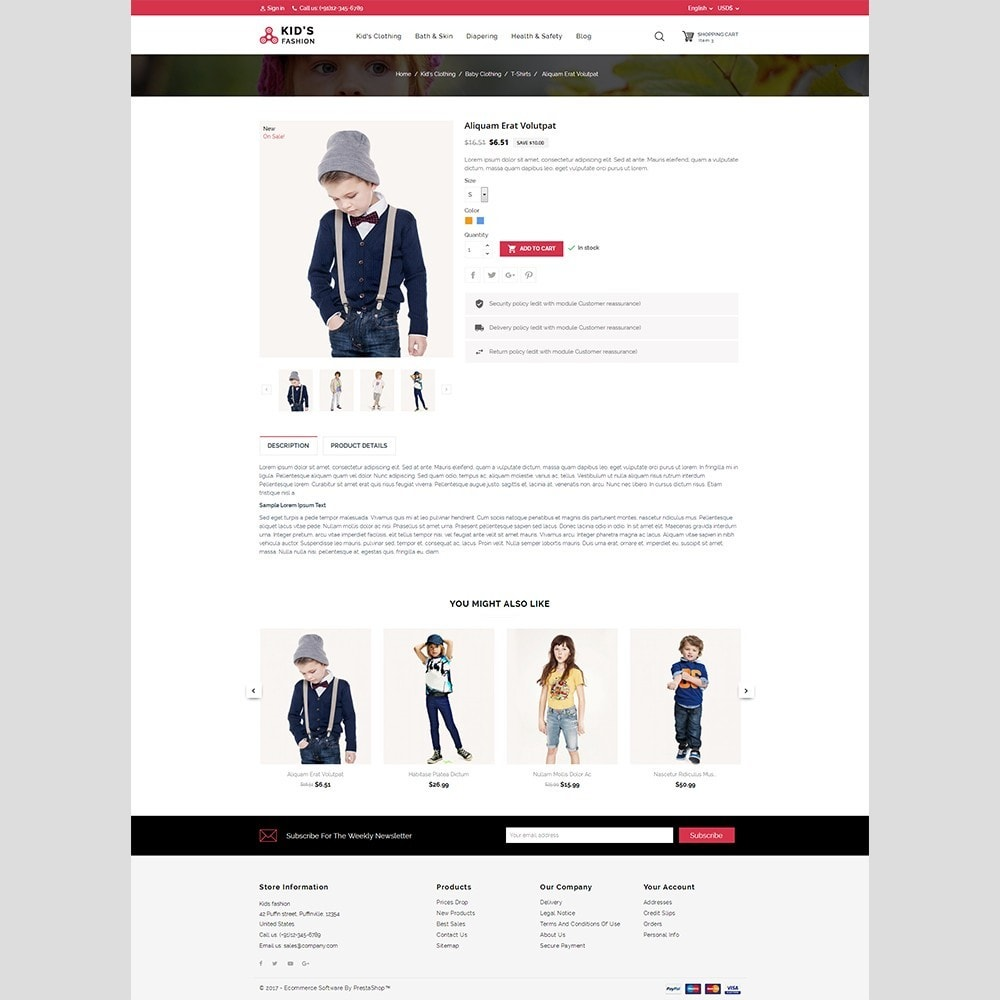 theme - Moda & Calçados - Kids Fashion - 3