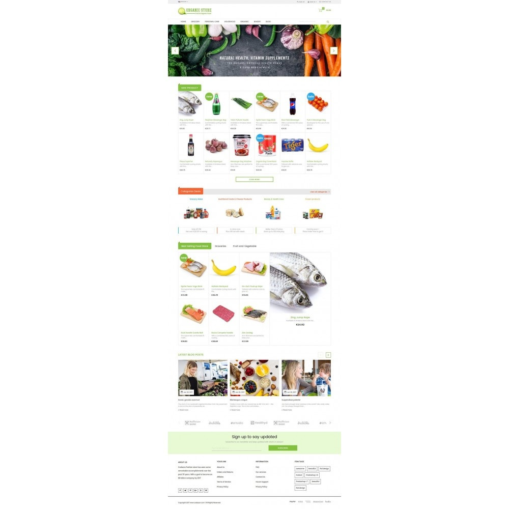 theme - Lebensmittel & Restaurants - Organic Food, Drinks, Fruit Store - 2