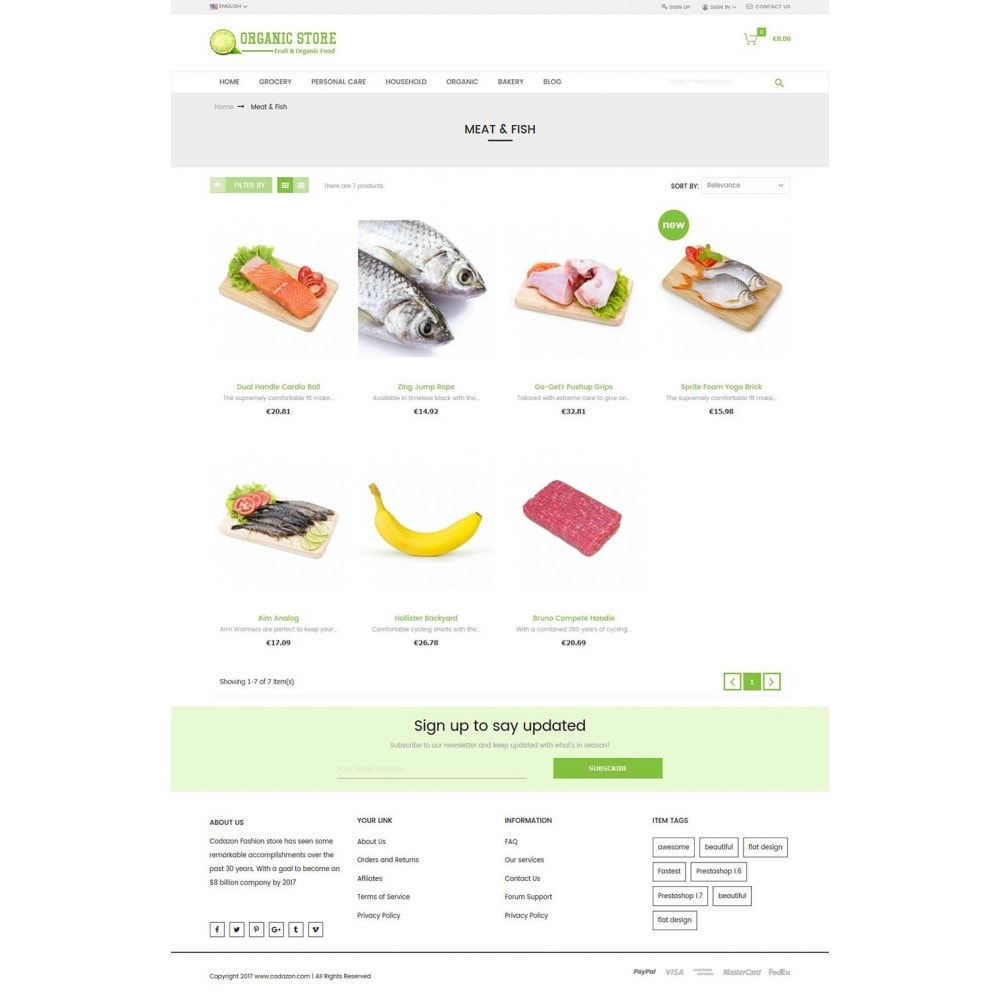 theme - Lebensmittel & Restaurants - Organic Food, Drinks, Fruit Store - 3
