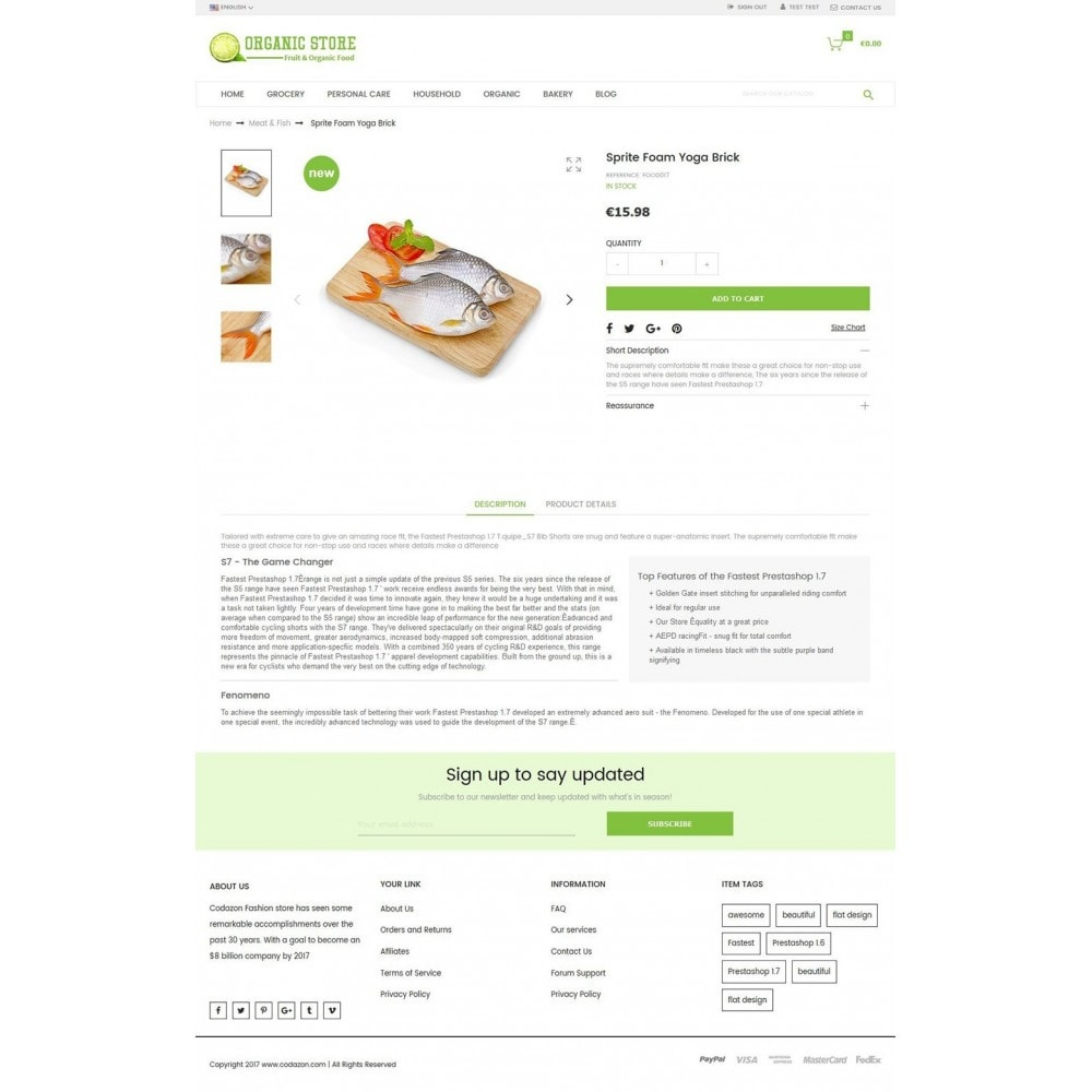 theme - Lebensmittel & Restaurants - Organic Food, Drinks, Fruit Store - 4