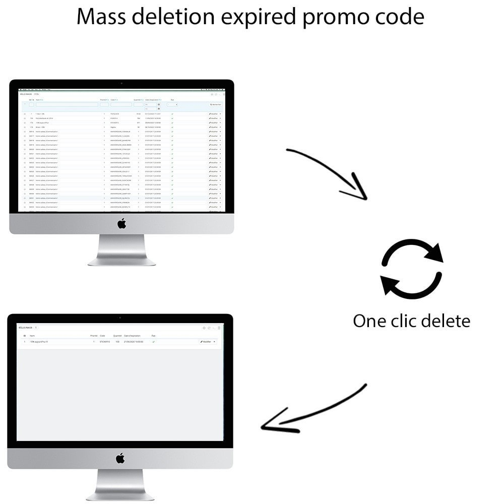 module - Promotions & Gifts - Mass delete expired promo code - Promo code cleaner - 1