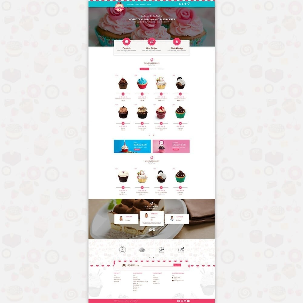 theme - Food & Restaurant - Cake Store - 2