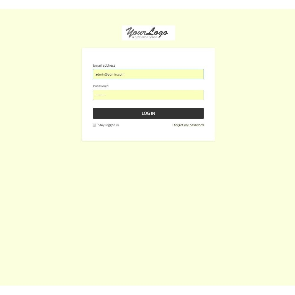 module - Individuelle Seitengestaltung - Design Style for Admin Back Office and Login Page - 7