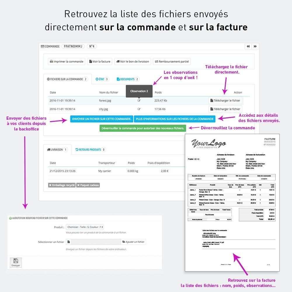 module - Inscription & Processus de commande - Envoi de fichiers par le client - 5