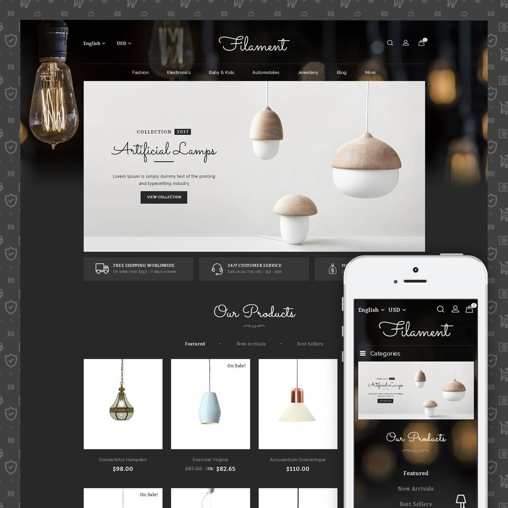 theme - Casa & Jardins - Filament - Lighting Store - 1