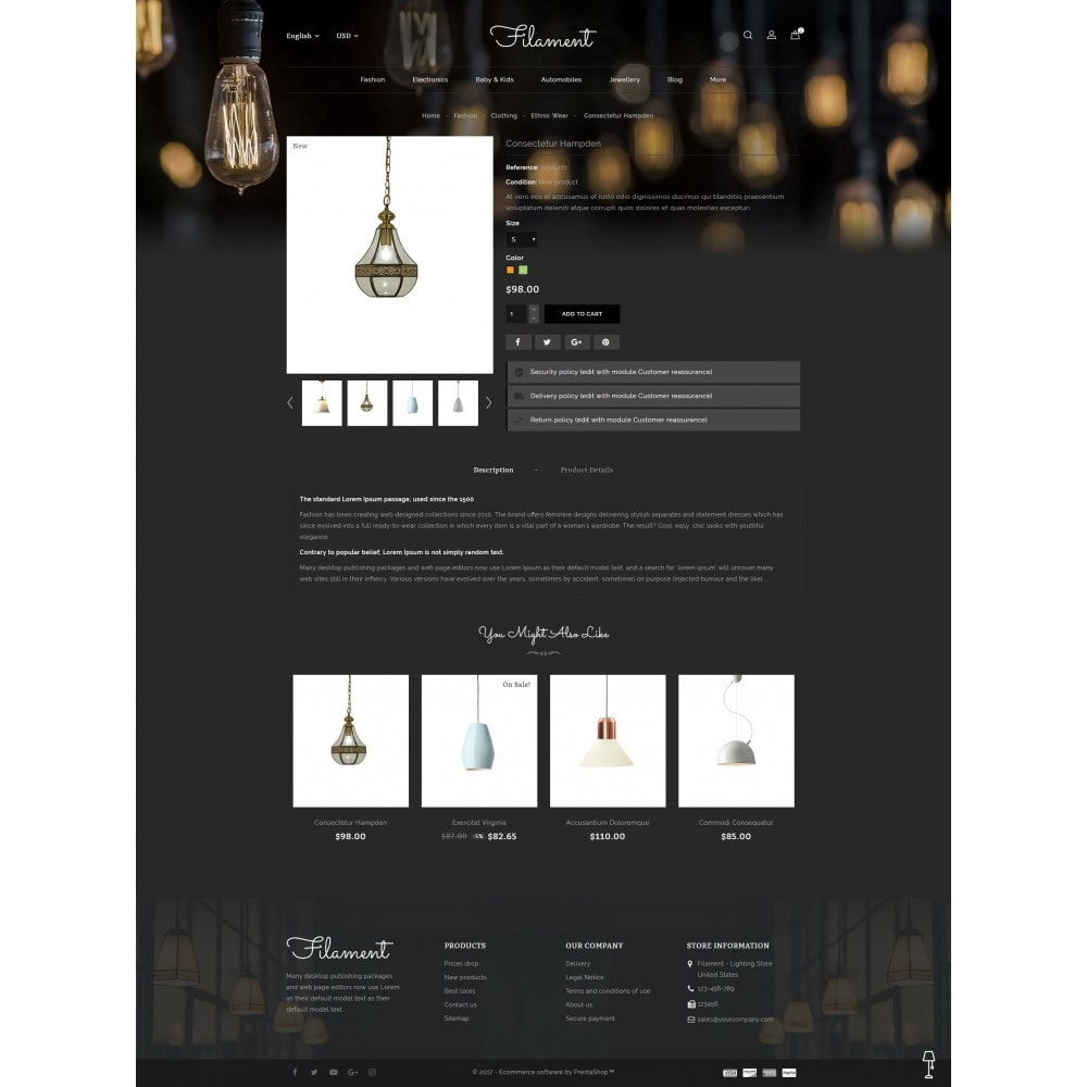 theme - Casa & Jardins - Filament - Lighting Store - 5