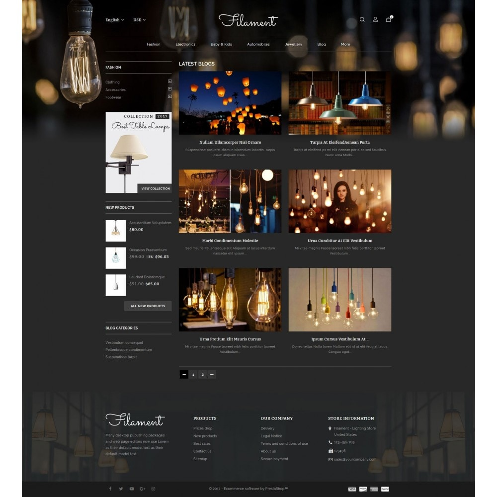 theme - Casa & Jardins - Filament - Lighting Store - 9