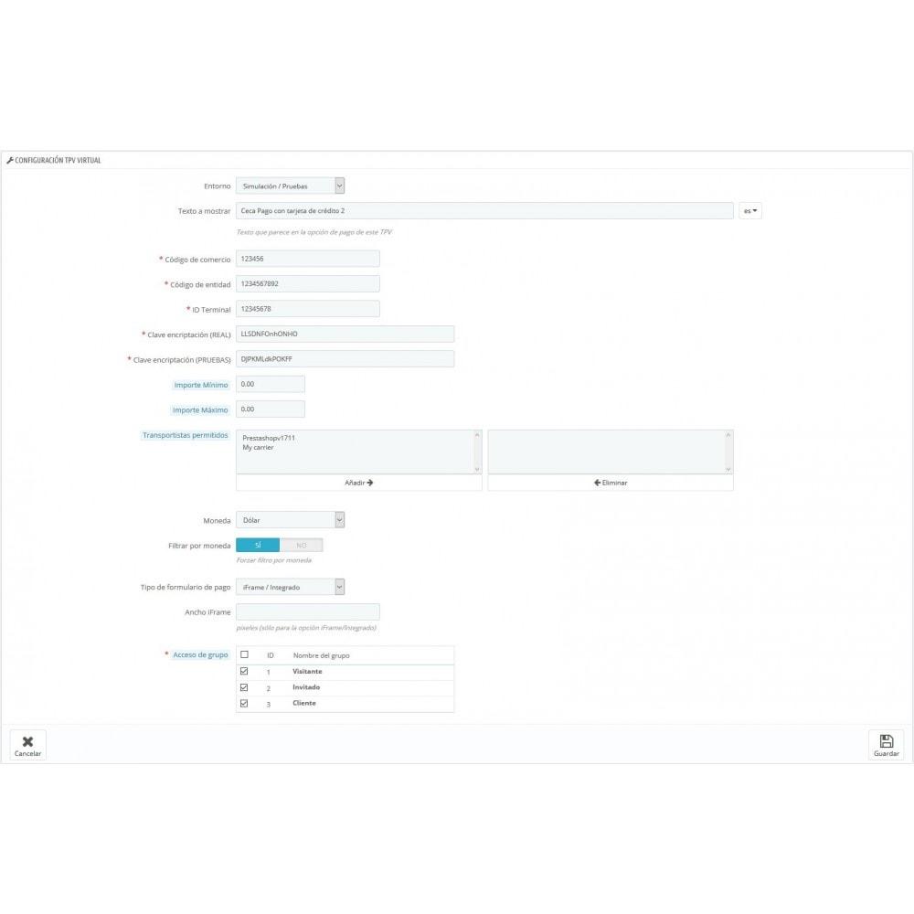 module - Pago con Tarjeta o Carteras digitales - TPV CECA COMPLETO (Pago seguro, Devoluciones, SHA256) - 4