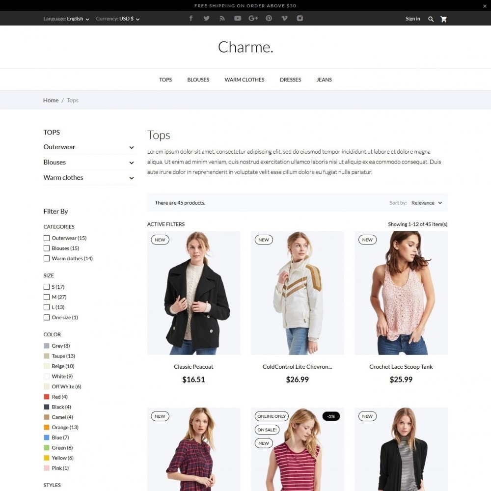 theme - Moda & Calzature - Charme Fashion Store - 5