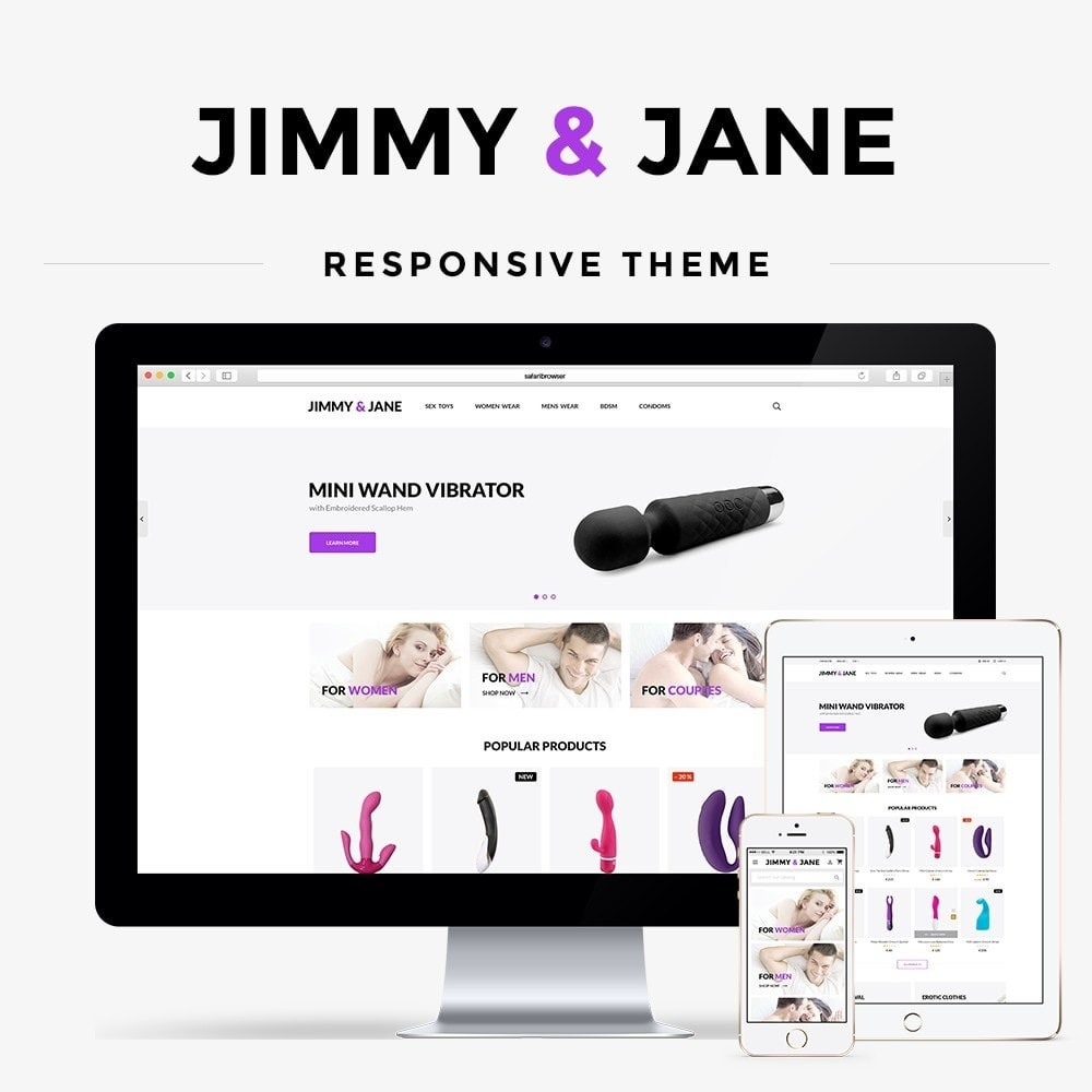 theme - Lingerie & Adultos - Jimmy&Jane - SexShop - 1