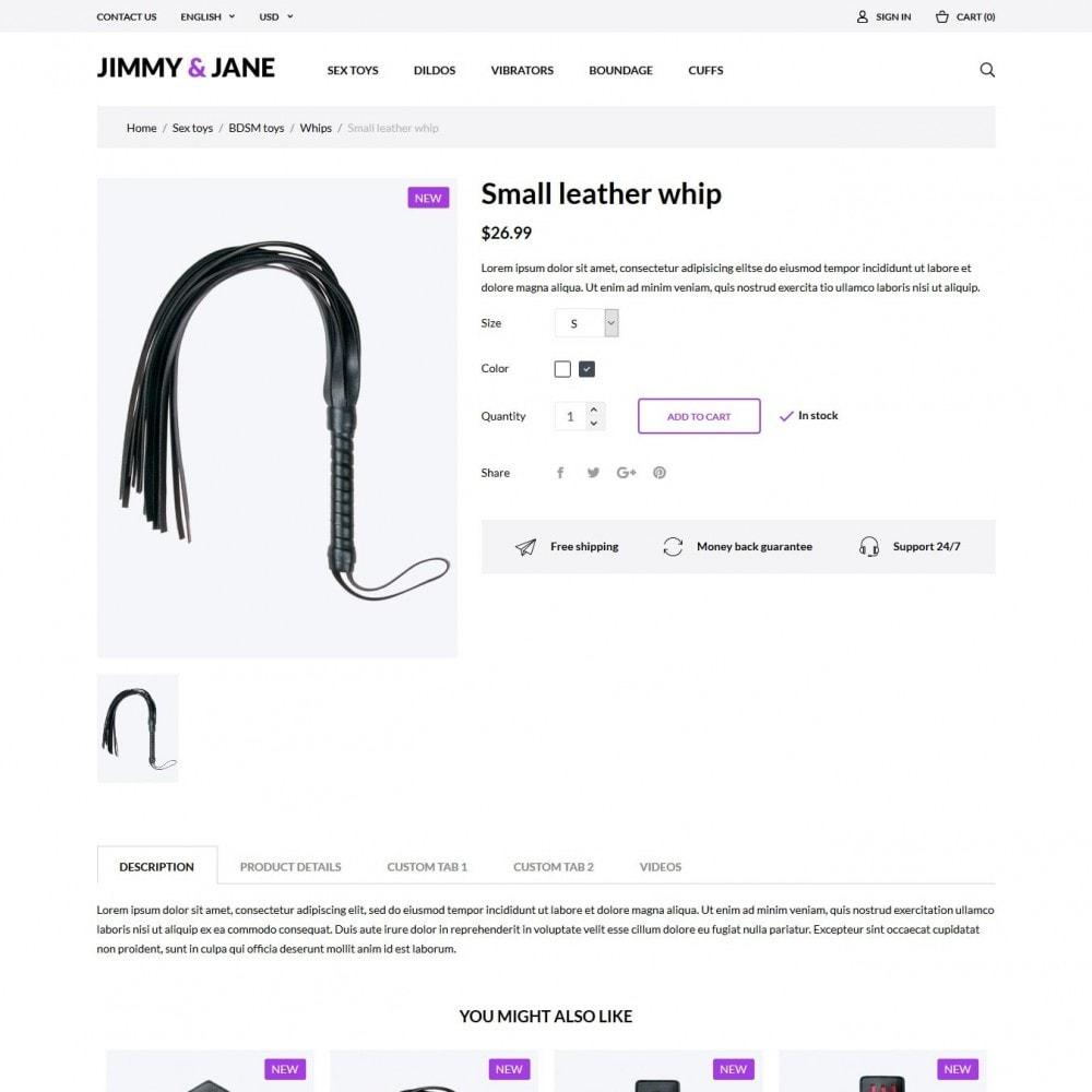 theme - Lingerie & Adulti - Jimmy&Jane - SexShop - 6