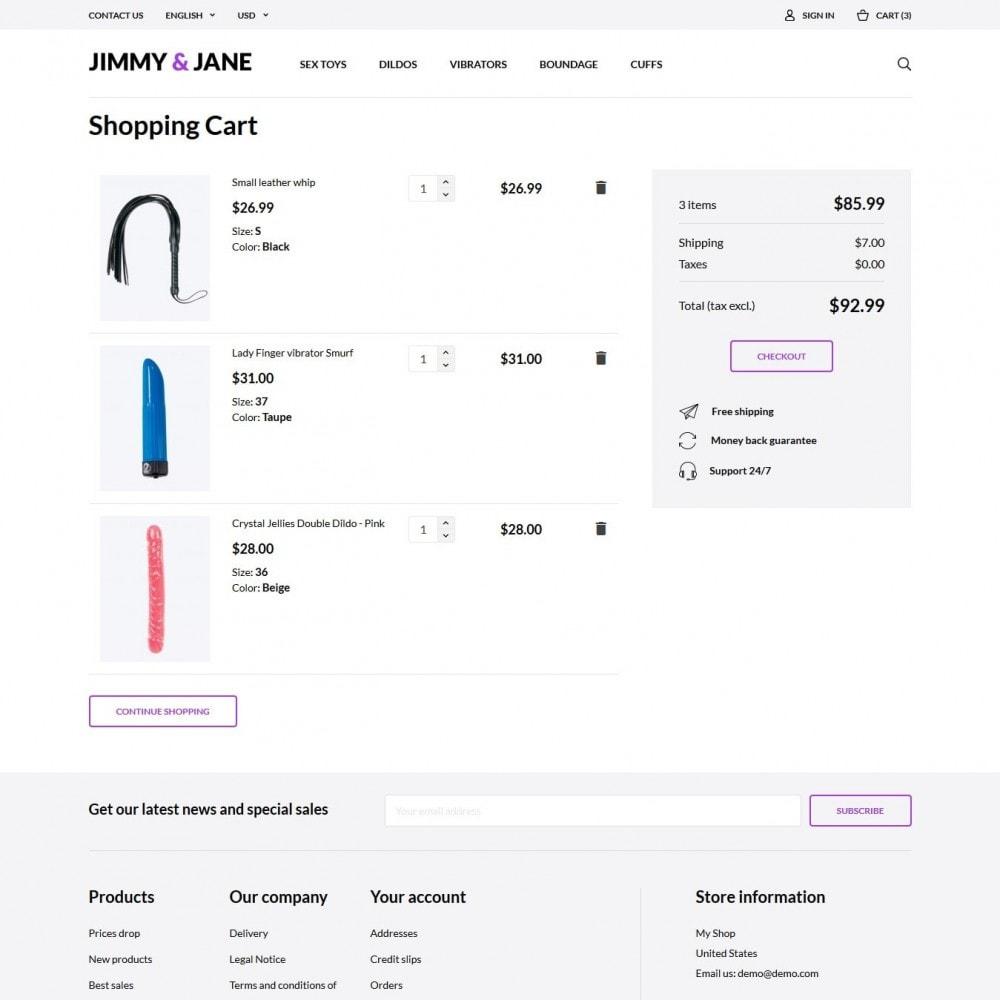 theme - Нижнее белье и товары для взрослых - Jimmy&Jane - SexShop - 7