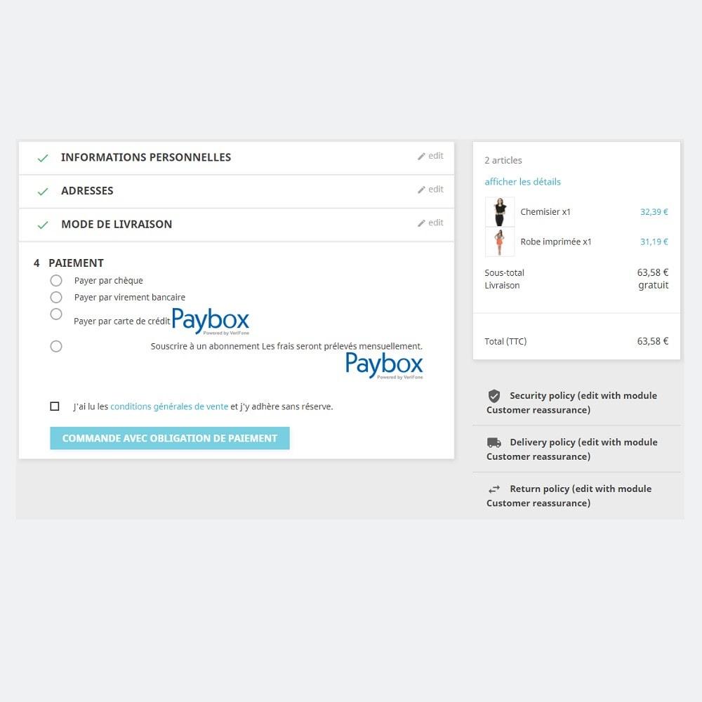 module - Paiement par Carte ou Wallet - Verifone E-commerce (Paybox) - 1.5, 1.6 & 1.7 - 6