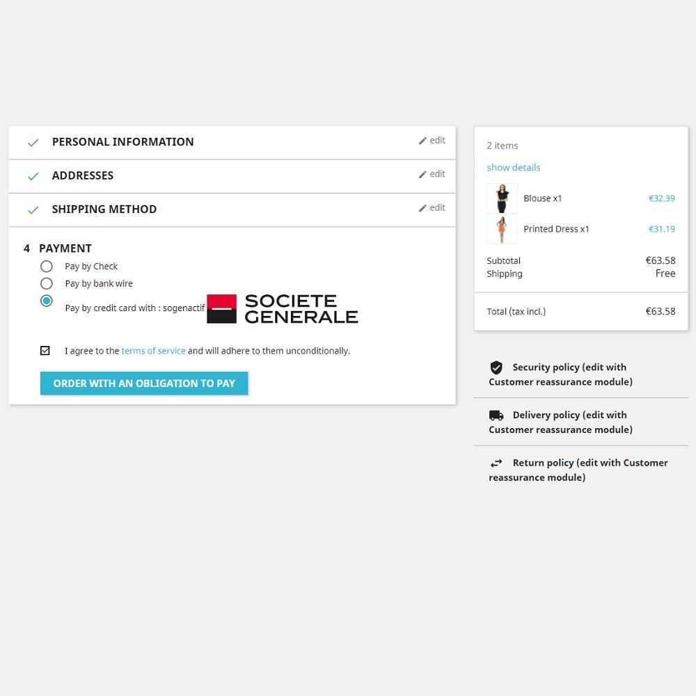 module - Pagamento con Carta di Credito o Wallet - Sogenactif 2.0 - Société Générale Atos Sips Worldline - 2