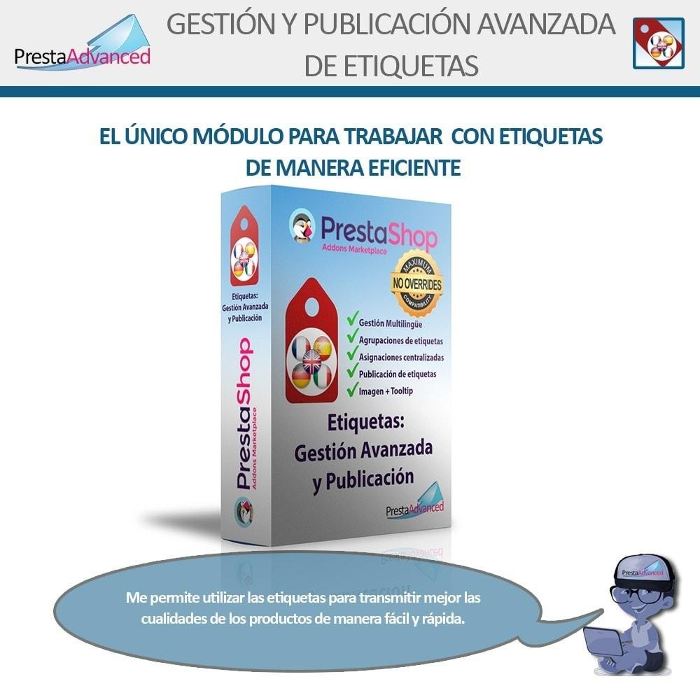 module - Etiquetas y Logos - Etiquetas: Gestión Avanzada y Publicación - 1