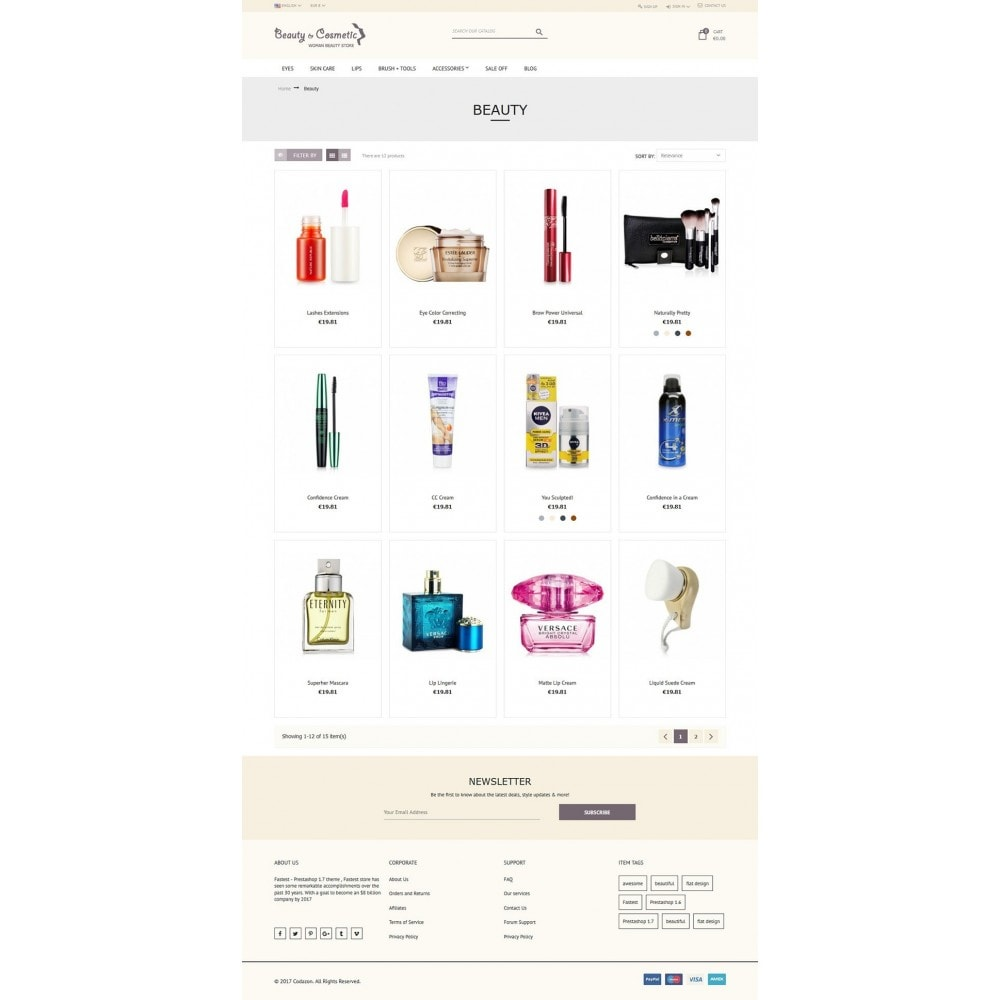 theme - Zdrowie & Uroda - Beauty and Cosmetic store - 5