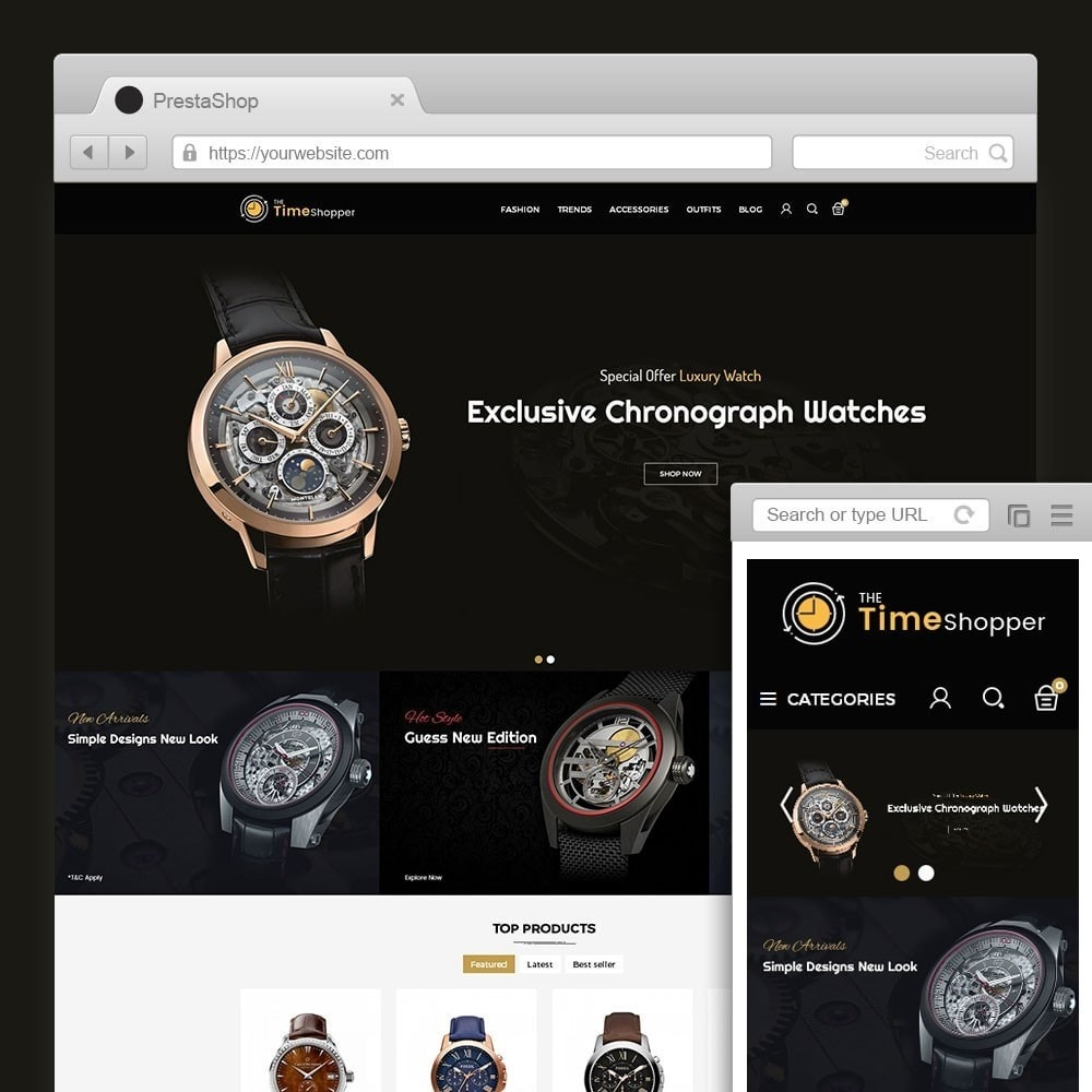theme - Jewelry & Accessories - Time Shopper Watch Store - 1