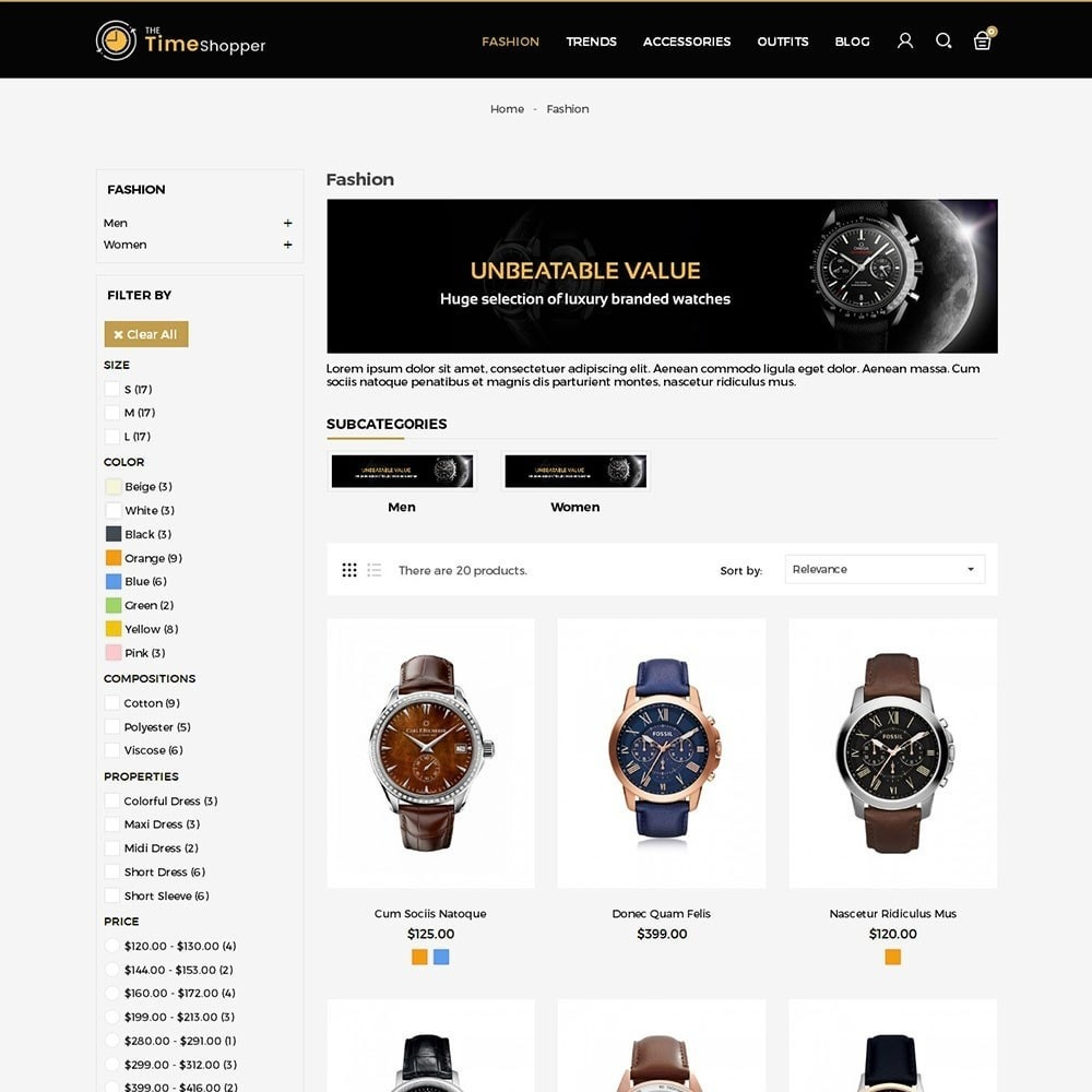 theme - Jewelry & Accessories - Time Shopper Watch Store - 3