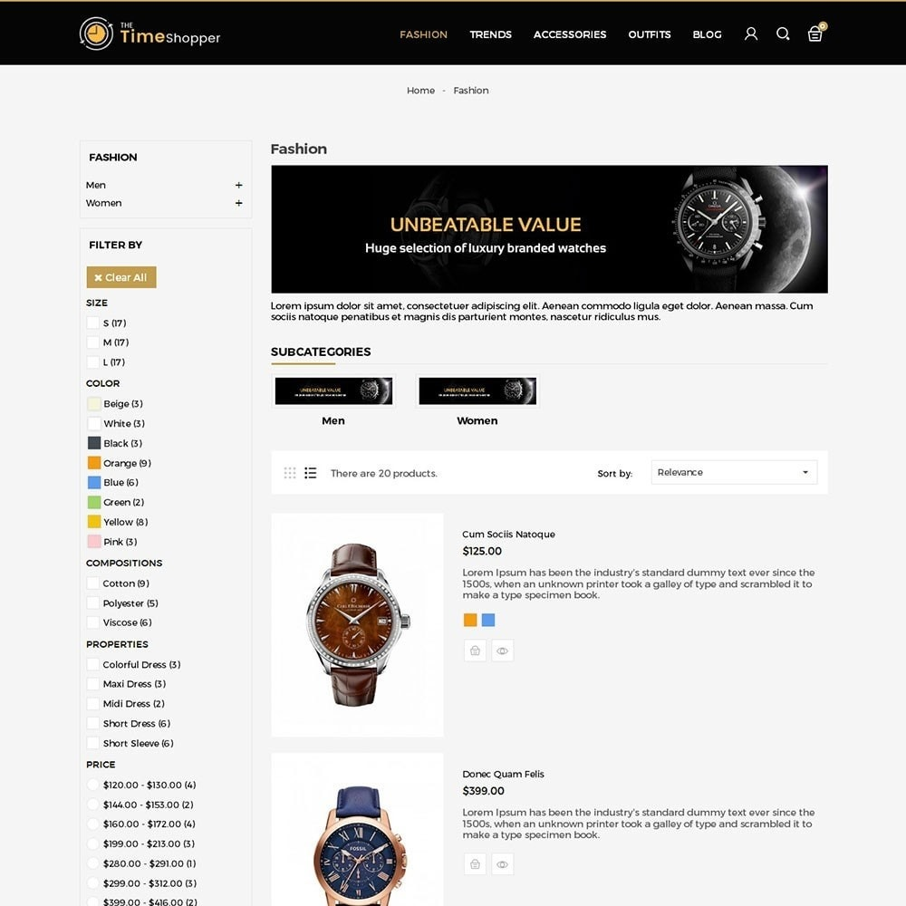 theme - Jewelry & Accessories - Time Shopper Watch Store - 4