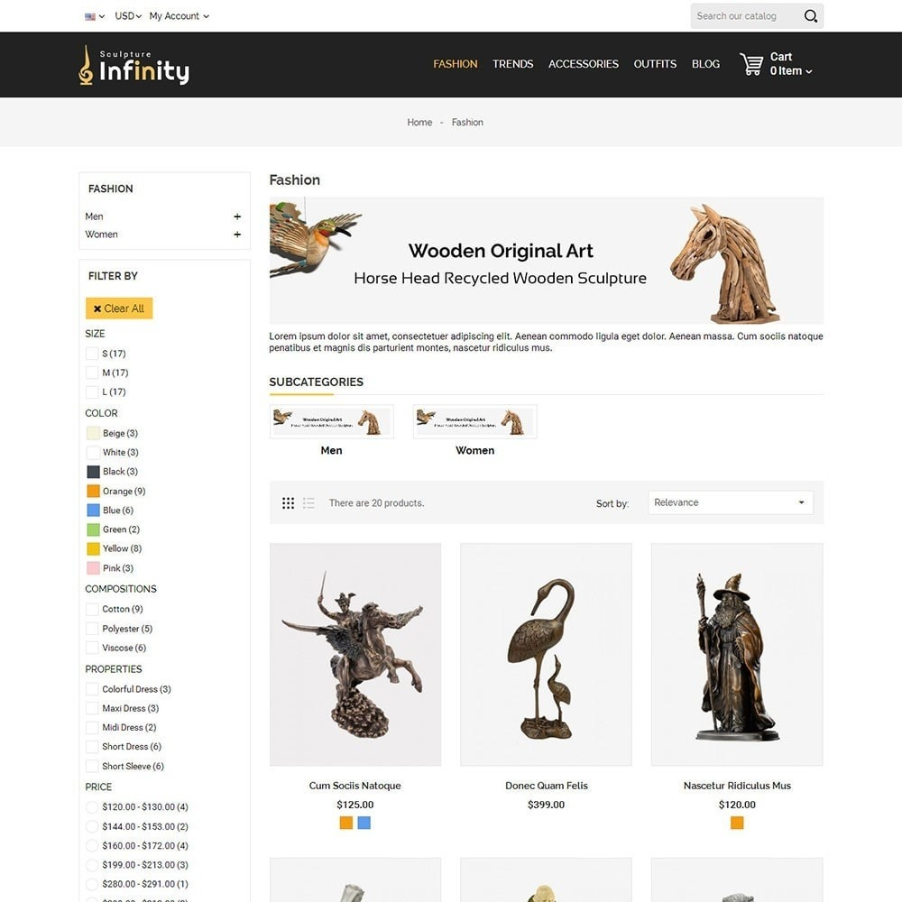 theme - Arte y Cultura - Infinity Sculpture Store - 3