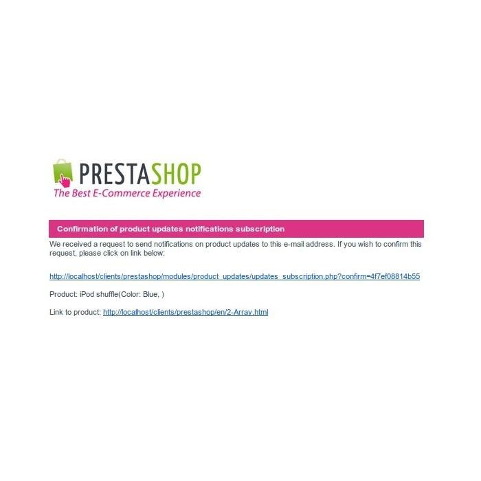 module - электронные письма и уведомления - Product updates notifications - 5